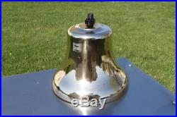 12 Antique Brass Railroad Bell 49 lb. Ship Naval Maritime Great Condition
