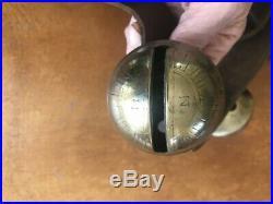 13 Antique Brass Petal Tulip Sleigh Bells Leather Old Belt / Strap Graduated 76