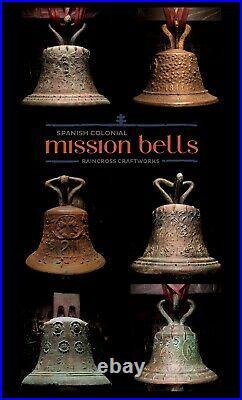 1811 BRONZE MISSION BELL, Vtg Old Antique Spanish Church Brass Mexico Souvenir