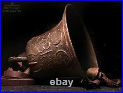 1818 BRONZE MISSION BELL Vintage Old Large Antique Spanish Brass Church Souvenir
