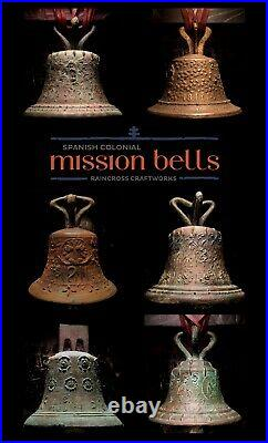 1818 BRONZE MISSION BELL Vintage Old Large Antique Spanish Brass Church Souvenir