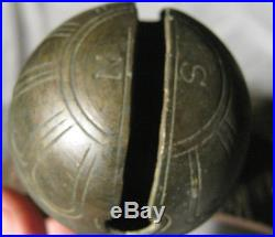 18 Antique Primitive American Country Brass Equestrian Art Horse Sleighbell Bell