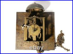 18thC Huggin Ashwellthorp Brass Long Case Clock Dial Movement Bell RESTORATION