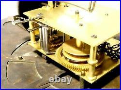 18thC T Richardson Darlington Brass Long Case Clock Dial + Movement + Bell