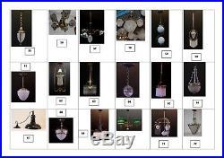 1900´s Antique Art Nouveau Glass brass Pendant Belle Epoque lamp ceiling light