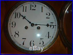 1910 1013 Lb, 71/2 Dial Waterbury14 Day Ship Bell Clock Chelsea Seth Thomas Era