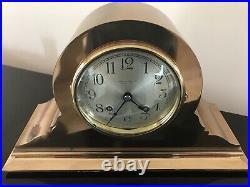 1924 Chelsea Ships Bell Antique Bronze Brass Clock Udall & Ballou Works