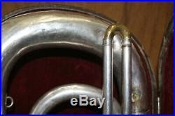 1932 Antique York Silver 3 Valve Bell Up Tuba E flat Serial Number 108112