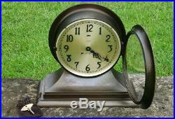 1935 Chelsea Admiral Ship's Bell Clock for John Bliss & Co NY 8.5 dial 12.5 ht