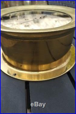 1940's Ww2 Era Brass Chelsea Ships Bell Clock From Collingwood Shipyards Canada