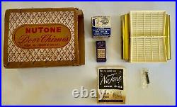 1950's VTG NuTone Door Chime Bell Futura NEW IN BOX Complete + MORE Mid Century