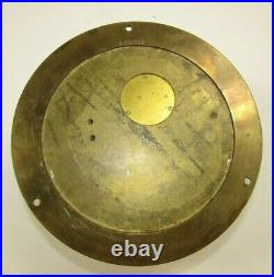 1960-64 Abercrombie & Fitch Chelsea Ship's Bell 6 Brass Marine Clock