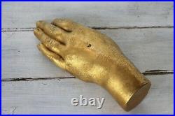 19th Century Life-Size Gilded Brass Hand, La Belle Époque Antique