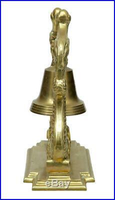 19th Century Victorian Brass Decorative Dinner Bell