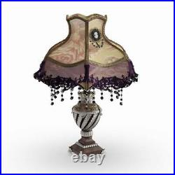 22in Tall Laced Jewel Victorian Style Table Lamp Home Decor