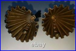 2 Walter Bosse Brass Table Bell Hertha Baller, Austria 1950s