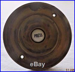 4 Victorian brass and ceramic bell push in original condition