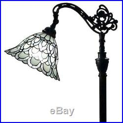 62 in. Tiffany Style Floor Lamp with Adjustable Shade by Amora Lighting