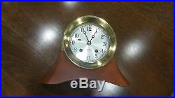 70% off. Chelsea ships bell clock. Tiffany, 4.5, S/N 819485, Moser cherry base