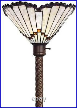 72 Antique Tiffany-style White Jewel Torchiere Lamp Tiffany Lamps Torch Floor