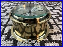 7 Antique Brass Ships Bell Clock by Bell Clock Co. 8 Day, Bell Strike No Key