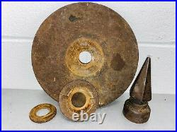 8 D Bell Three 3 Chime Chamber BRASS Whistle Antique Steam Air Railroad Horn