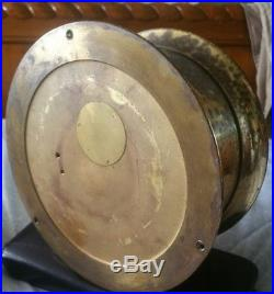 ACTUAL WORKING CHELSEA BOSTON BRASS SHIP'S BELL CHIMING CLOCK needs replating