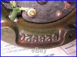 ANTIQUE 12 General Electric Fan Brass Bell 3-speed oscillating Original Works