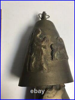 ANTIQUE 8 BRASS CAMEL BELLS HANDMADE MIDDLE EAST, LATE 19th / EARLY 20th