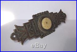 ANTIQUE ART NOUVEAU ORNATE SILVER PLATED BRASS with HORN BUTTON DOOR BELL