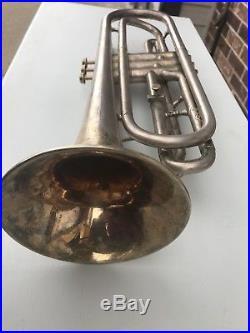ANTIQUE C. G. Conn Eb Alto Horn BRASS BELL ORIG CASE 2 Mouthpieces FLUGELHORN