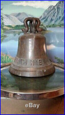 ANTIQUE OLD'THE VALENTIN'S' Nautical Ship's Bell VERY RARE