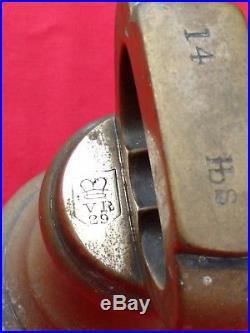 ANTIQUE VICTORIAN 14lb BRASS BELL WEIGHT. FOURTEEN POUND, VR