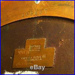 A Chelsea Ship's Bell Clock George E. Butler Pat#689899 Chelsea Boston not run