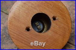 Aged Brass Door Bell Press & Pattress old vintage antique style door bell push