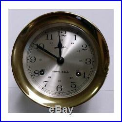 Airguide Ship's Bell Clock Brass