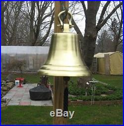 Aluminum Bell 14.5 Antique Brass Finish NEW