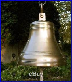 Aluminum Bell 24 Huge Antique Brass Finish NEW