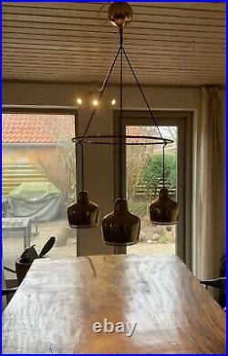 Alvar Aalto. Golden Bell Chandelier manufactured by Louis Poulsen