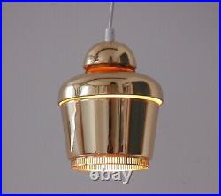 Alvar Aalto pendel by Artek golden bell light lamp pedant A330S