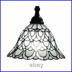Amora Tiffany Floor Lamp Arched 62 Stained Glass Traditional White AM107FL11
