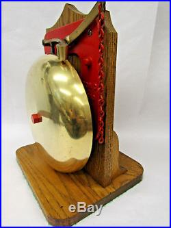 Antique 10 Brass & Cast Iron Reiter Boxing Ring Bell VERY LOUD School Firehouse