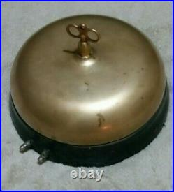 Antique 11inch Brass Gamewell Turtle Gong, Fire Alarm Bell