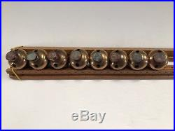 Antique 15 Acorn Shaped Brass Horse / Sleigh Bells with Rivets from Late 1800's