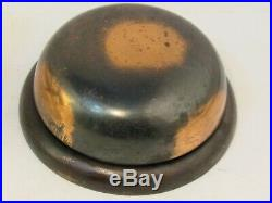 Antique 1800's SARGENT Japanned Brass Door Bell + Thumb Turn Working RING