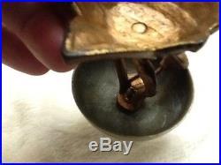 Antique 1870's Hotel Counter Top Service Brass & Cast Iron Desk Call Bell