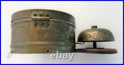 Antique 1880's SETH THOMAS Brass Bottom Bell Ship's Bell Ship Wall Clock