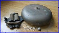 Antique 1885-1900era Gamewell-type 18 BRASS ALARM BELL boxing ring firehouse