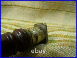 Antique 18th Century Brass & Wood Nobility Armorial Bell Sealing Wax Stamp Seal