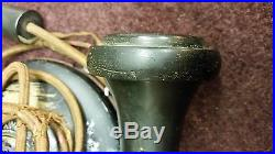 Antique 1913 Brass Candlestick Phone Western Electric AL 20 / American Bell 323